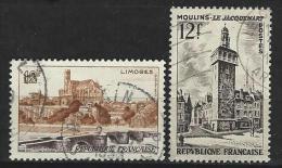 """FR YT 1019 & 1025 """" Sites Et Monuments """" 1955 Oblitéré - Usati"""