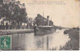CAEN A LA MER BORD DU CANAL DE L ORNE PANORAMA DU CANAL AVEC LES VAPEURS - Caen