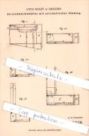 Original Patent   - O. Wolff In Dresden , 1883 , Streichholzbehälter Mit Automatischer Zündung , Streichholzschachtel !! - Zündholzschachteln