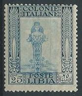 1921 LIBIA PITTORICA 25 CENT MH * - G049 - Libyen
