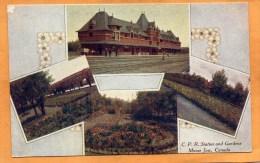 Moose Jaw CPR Railroad Station 1908 Postcard - Saskatchewan