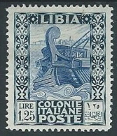 1931 LIBIA PITTORICA 1,25 LIRE MH * - G054 - Libyen