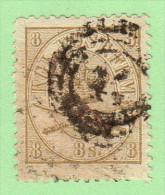 DEN SC #14b  1870 Royal Emblems P12.5 W/v Lt Stn Over ~50% - Used Stamps