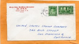 Newfoundland 1949 Cover Mailed To USA - 1908-1947