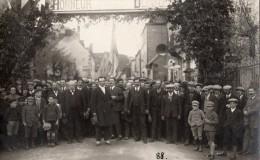 EGLISENEUVE-D´ENTRAIGUES CARTE PHOTO HONNEUR AU DEPUTE HENRY ANDRAUD TOP RARE - France