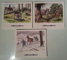LES TUNIQUES BLEUS ( LOT DE 3 PLANCHES ) BD FORMAT INDIVIDUEL 21 X 24 C M EXCELLENT ETAT ! ! ! - Autres Collections