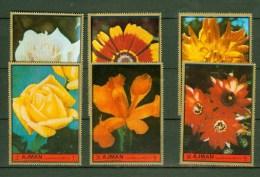 Ajman 1972,6V,flowers,bloemen,blumen,fleurs,flores,fiori,MNH/Postfris(A 1385) - Non Classés