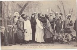 CPA Animée - Amicale Libre De Bourg Argental (42) - La Passion En 1913 - Le Baiser De Judas - Arrestation De Jésus - Bourg Argental