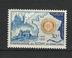 """FR YT 1009 """" Rotary International """" 1955 Neuf* - France"""