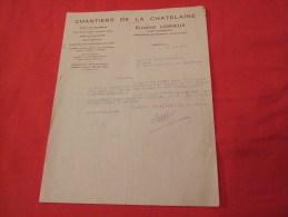 EUGÈNE LORIEUX À NEAUPHLE LE CHATEAU (78640). LETTRE DATÉE 1947. - France