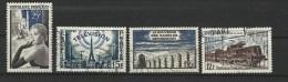 """FR YT 1020 1022 1023 1024 """" 4 TP De L'année """" 1955 Oblitéré - Usati"""