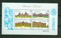 Spain Espana 1989,4V In Block,palaces,paleizen,palaste,palais,palacio,palazzo,MNH/Postfris(L1484) - Monumenten