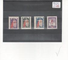 ESPAÑA-970/73 Protuberculos Año 1943 Nuevos Sin Fijasellos Según Foto - 1931-50 Nuevos & Fijasellos