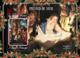 st14605b S.Tome Principe 2014 Painting Christmas s/s