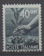1945 - 1948 (546) Serie Democratica Cent. 40 Perfin B.C.I. Usato (leggi Messaggio Del Venditore) - 6. 1946-.. República