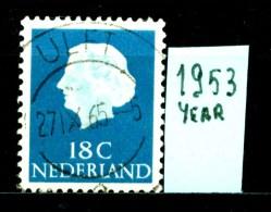 OLANDA - NEDERLAND - Year 1953 - 18 Cent - Usato - Used. - Gebruikt