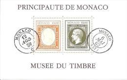 MONACO ---   Bloc    Création Du Musée Du Timbre-Poste  N° 58   Y. & T. - Mónaco