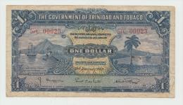 TRINIDAD & TOBAGO 1 Dollar 1939 VF Banknote P 5b 5 B - Trinidad & Tobago