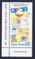"""2013 SAN MARINO """"50° ANNIVERSARIO CENTRO ITALIANO DI FILATELIA TEMATICA (CIFT)""""  SINGOLO MNH - San Marino"""