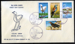 TURKEY 1976 FDC - Birds, Michel #2407-10; ISFILA #2799-02* - FDC