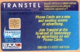 South Africa - SAF-TR-08, Proof Kruger Set (Phone Num. 08-00), Transtel Trial R20, 2450ex, Used - Afrique Du Sud