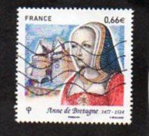Timbre Oblitéré Anne De Bretagne - Gebruikt