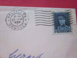 27 Août 1936 Bruxelles Brussell Belgique Belgie Lettre Letter Cover  -> Bern Berne  Suisse - Postmarks - Lines: Distributions