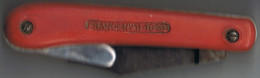 Ancien  Couteau  Pradines  Sur Les  2 Faces - Messen