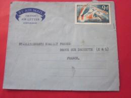 1966 LAGOS NIGERIA Africa Afrique Letter Lettre Aérogramme  By Air Mail Boys & Sons To Pour  Droue Sur Drouette E&am - Nigeria (1961-...)