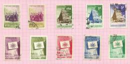 Vietnam Du Sud N°65 à 74 Cote 2.70 Euros - Vietnam