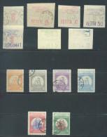 CRETE -  USED/OBLIT. AND MH/*- 1905 - VENIZELOS THERISO REVOLUTION INSURGES  -  Yv 1-14 Mi 1-11 PERF 11 1/2 - Lot 10946 - Crète