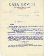 Commande/Fabrique D´Instruments De Musique/Casa ERVITI/San Sebastian/Esp/ Courbe/La Couture Boussey/Eure/ 1930   PART116 - Other