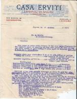 Commande/Fabrique D´Instruments De Musique/Casa ERVITI/San Sebastian/Esp/ Courbe/La Couture Boussey/Eure/ 1927  PART117 - Musique & Instruments