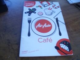 Thai Air Asia In Flight Menu Book Oct-Dec 2014 Used As Scan - Aviazione Commerciale