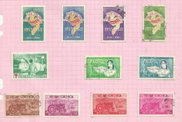 Vietnam Du Sud N°146 à 156 Cote 3.25 Euros - Vietnam