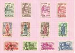 Vietnam Du Sud N°192 à 203 Cote 2.80 Euros - Vietnam