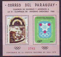 PARAGUAY - WINTER OLYMP.  GRENOBLE  - **MNH - 1968 - Winter 1968: Grenoble