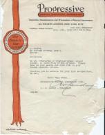 Lettre/Fabrique D´Instruments De Musique/PROGRESSIVE/New-York/USA/ Courbe/La Couture Boussey/ Eure/1930  PART121 - Autres