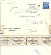 Ausland Brief  Hamburg - Zürich  (Devisenkontrolle)             1935 - Deutschland