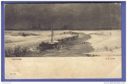 Ingevroren - V. D. Laan - Bateau Dans Rivière Gelée - Cartes Postales