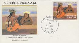Enveloppe  1er Jour  POLYNESIE   Oeuvre  D´ Artiste  En  Polynésie    1984 - FDC