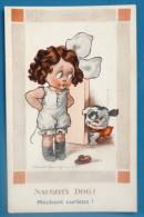 Litho Illustrateur FRED SPURGIN Enfant FILLETTE ET CHIEN CURIEUX Serie GIRLIE 531 Ecrite - Spurgin, Fred
