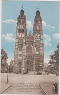 Cpa,tours,cathédrale St Gatien En Travaux,échaffaudage De Trés Grande Hauteur,70 M