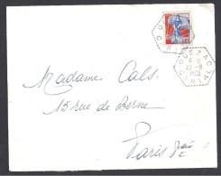 CANTAL - Cachet Hexagonal Pointillé De QUEZAC - Marcophilie (Lettres)