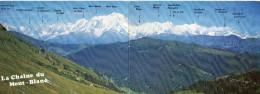 CP - DOUBLE - LA CHAINE DU MONT BLANC - E.12026 - CELLARD - Chamonix-Mont-Blanc
