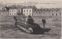 Cpa,1930,tours,quartier Lasalle,501 E Régiment D´artillerie D´assaut ,char D´assaut
