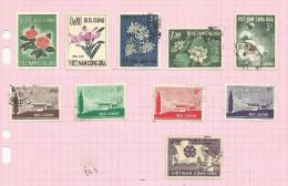 Vietnam Du Sud N°264 à 272, 274 Cote 2.70 Euros - Vietnam