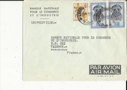 Enveloppe  Timbree  De  B N C I  A  LEOPOLDVILLE  -Congo-Belge Adressé A B N C I  A  Valence 26 En 1953 - Belgian Congo