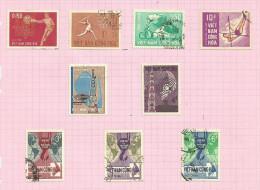 Vietnam Du Sud N°275 à 283 Cote 2.60 Euros - Vietnam