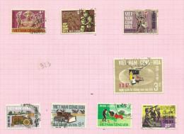 Vietnam Du Sud N°320 à 322, 324 à 328 Cote 2.80 Euros - Vietnam
